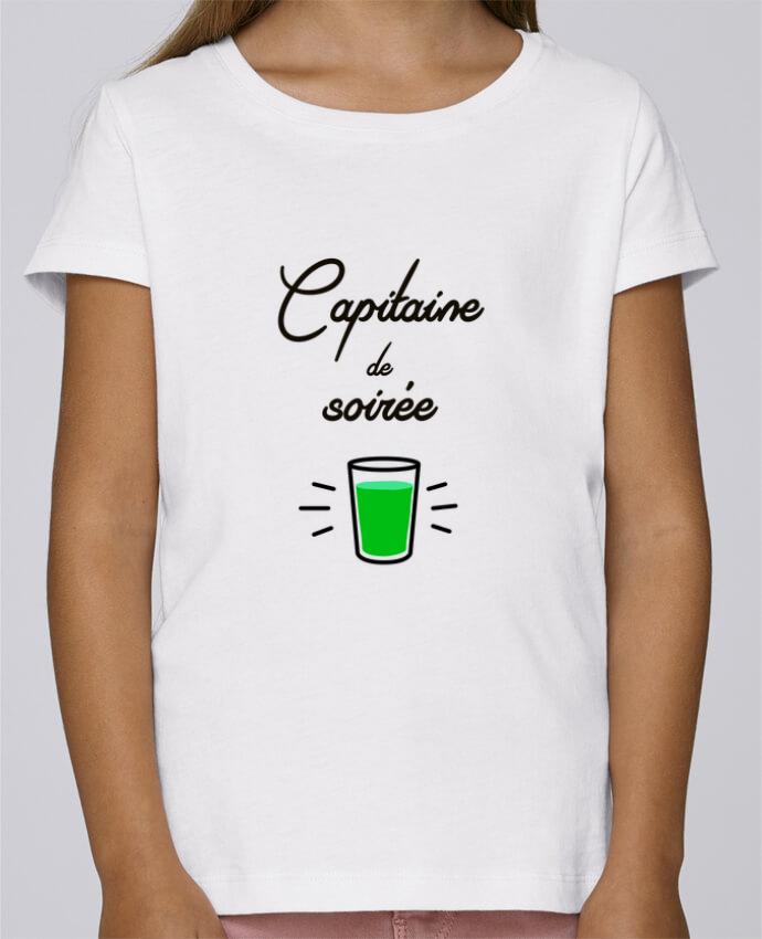 T-shirt Fille Mini Stella Draws Capitaine de soirée par Lamouchenoire38