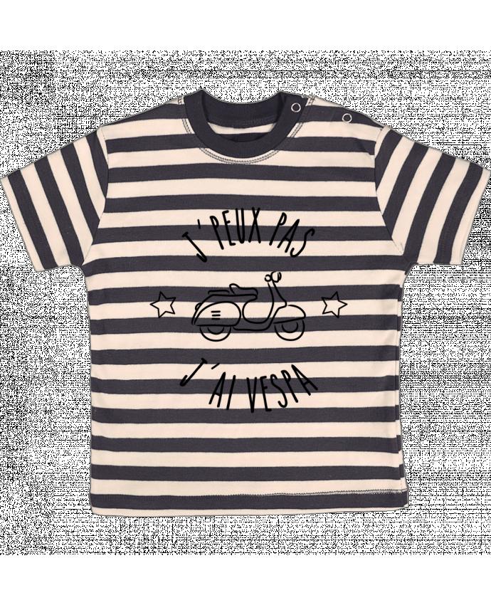 T-shirt Bébé à Rayures j'peux pas j'ai vespa par Lamouchenoire38