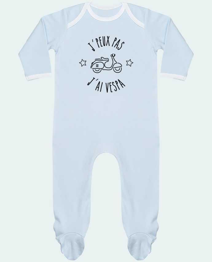 Pyjama Bébé Manches Longues Contrasté j'peux pas j'ai vespa par Lamouchenoire38