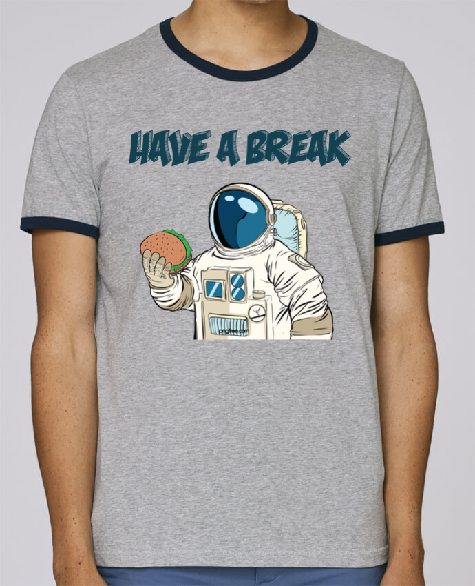 T-Shirt Ringer Contrasté Homme Stanley Holds astronaute - have a break pour femme par jorrie