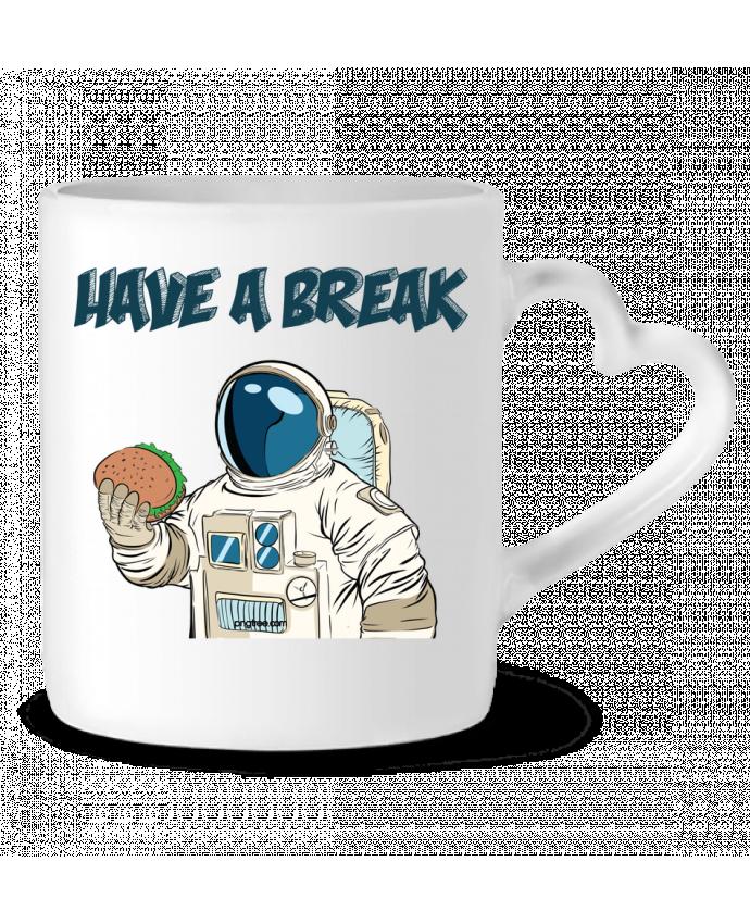 Mug Coeur astronaute - have a break par jorrie