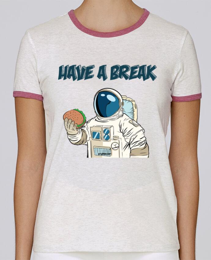 T-shirt Femme Stella Returns astronaute - have a break pour femme par jorrie
