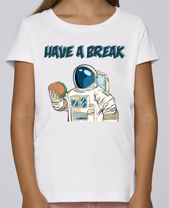 T-shirt Fille Mini Stella Draws astronaute - have a break par jorrie