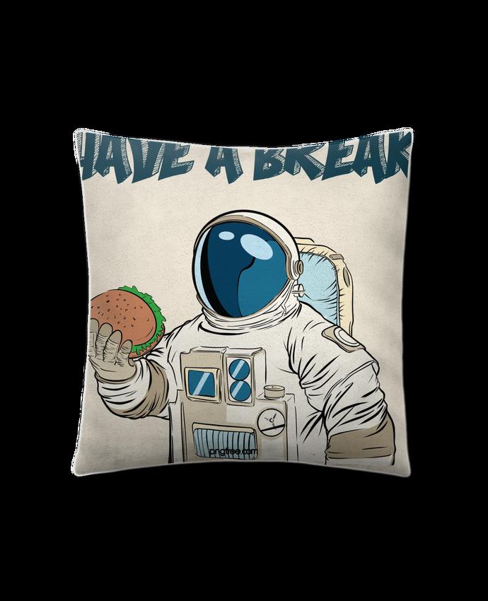 Coussin Toucher Peau de Pêche 41 x 41 cm astronaute - have a break par jorrie