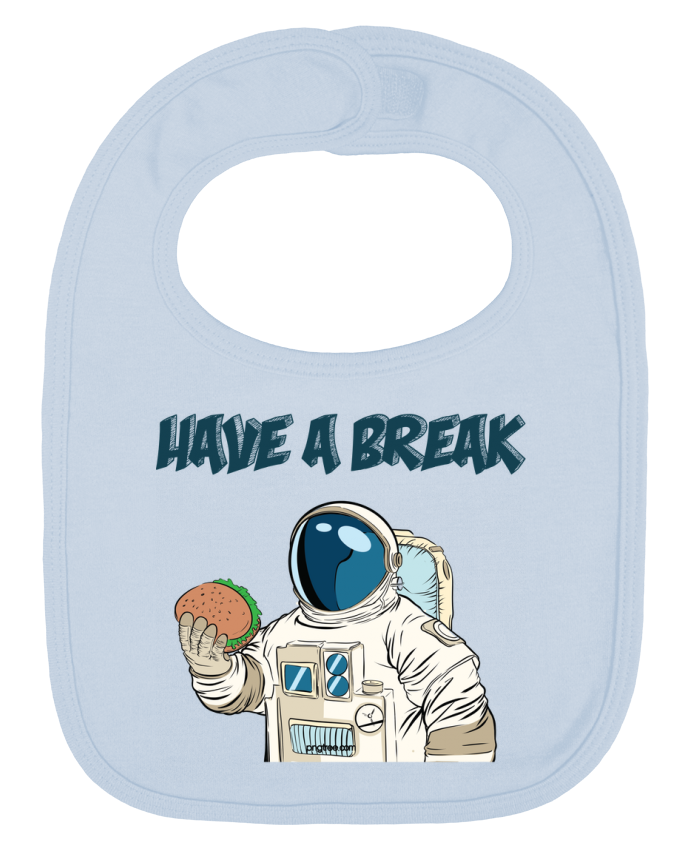 Bavoir Uni et Contrasté astronaute - have a break par jorrie