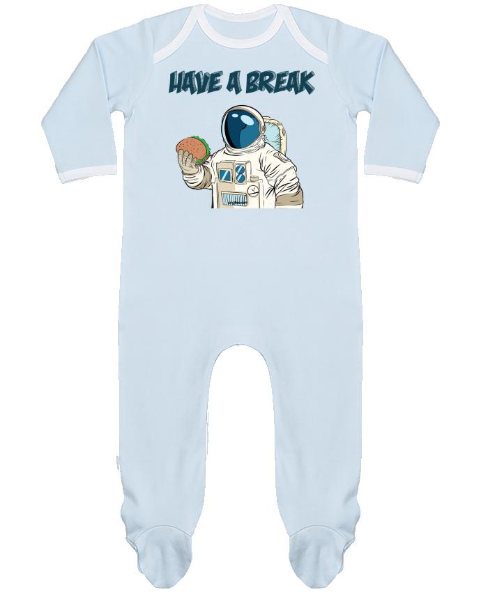 Pyjama Bébé Manches Longues Contrasté astronaute - have a break par jorrie