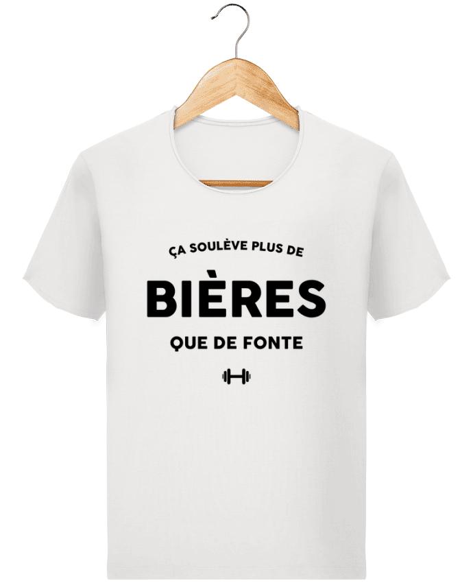 T-shirt Homme vintage ça soulève plus de bières que de fonte par tunetoo
