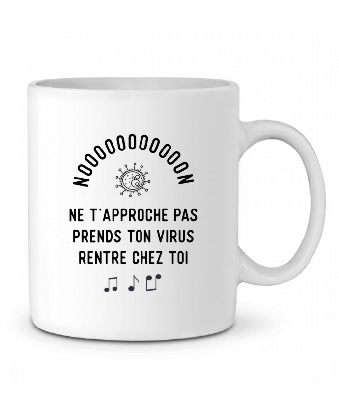 Mug en Céramique Prends ton virus rentre chez toi humour corona virus par Original t-shirt