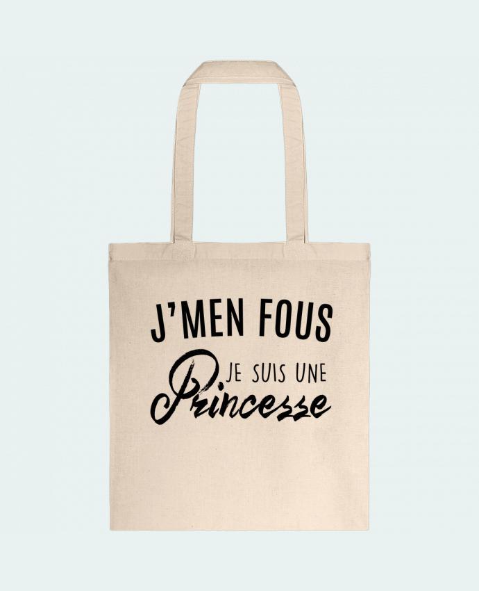 Sac en Toile Coton J'men fous je suis une princesse par LPMDL