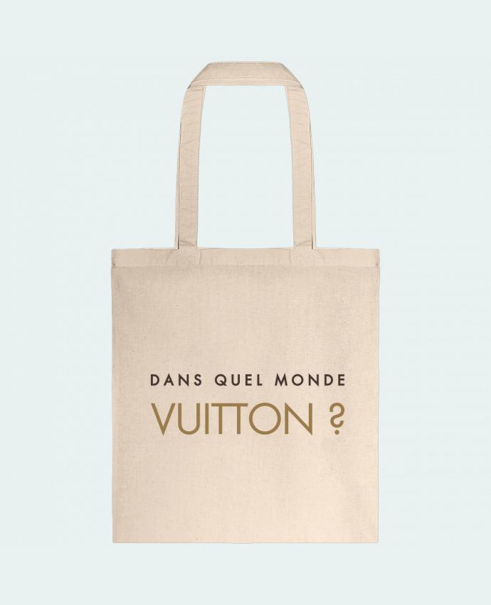 Sac en Toile Coton Dans quel monde Vuitton ? par tunetoo