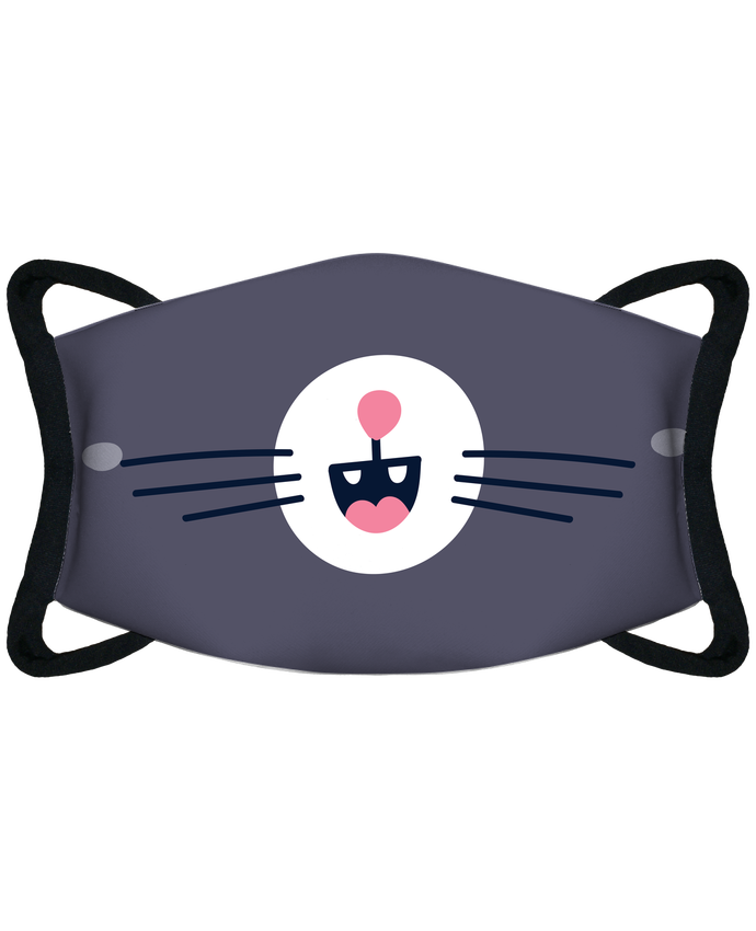 Masque de Protection Sublimable Tunetoo Bouche de chat par tunetoo