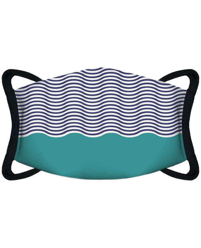 Masque de Protection Sublimable Tunetoo Pattern vagues par tunetoo