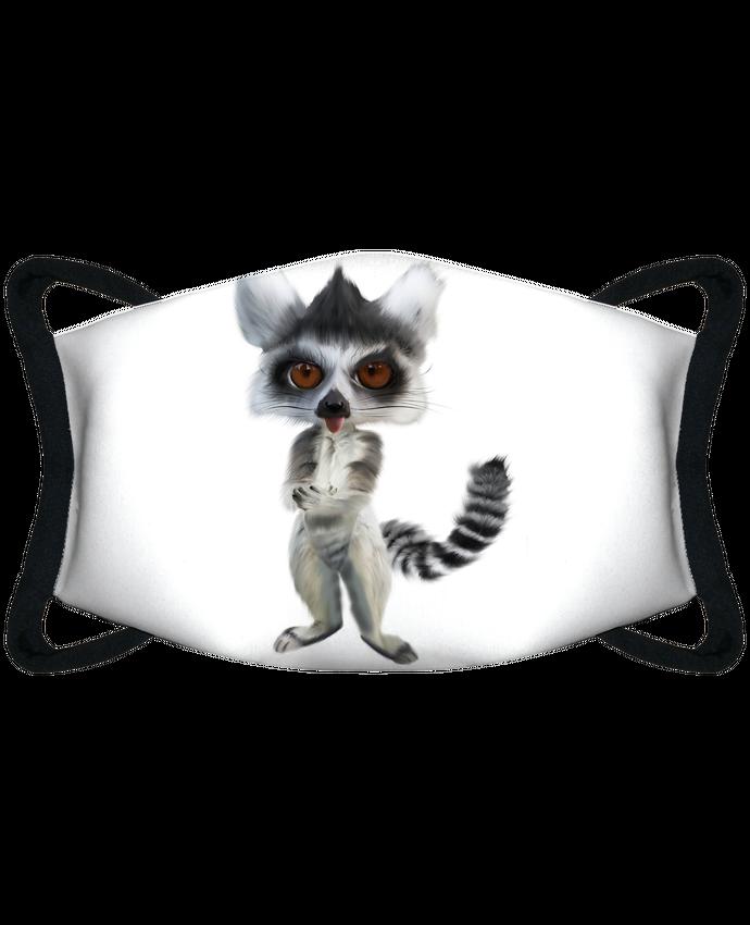 Masque de Protection Sublimable Tunetoo lémurien par artcreationstudio