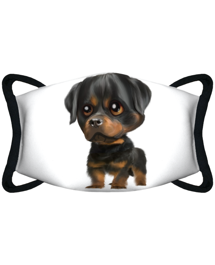 Masque de Protection Sublimable Tunetoo rottweiller par artcreationstudio