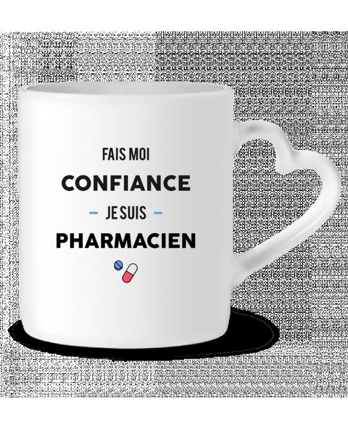 Mug Coeur Fais moi confiance je suis pharmacien par tunetoo