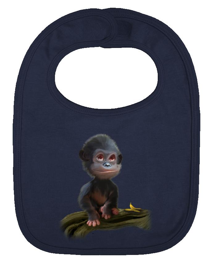 Bavoir Uni et Contrasté bonobo par artcreationstudio