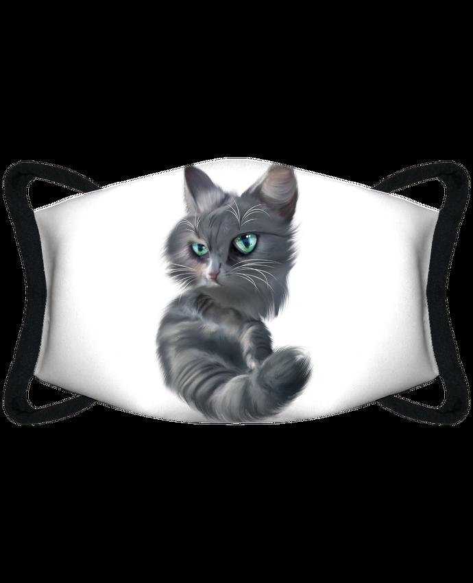 Masque de Protection Sublimable Tunetoo chat boudeur par Artcreationstudio