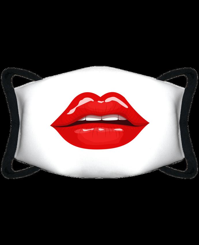 Masque de Protection Sublimable Tunetoo Bouche femme entrouverte sensuelle lèvres rouge par Funnydesigner