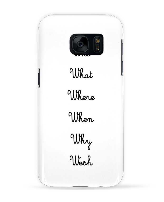 Coque 3D Samsung Galaxy S7 5W par tattooanshort