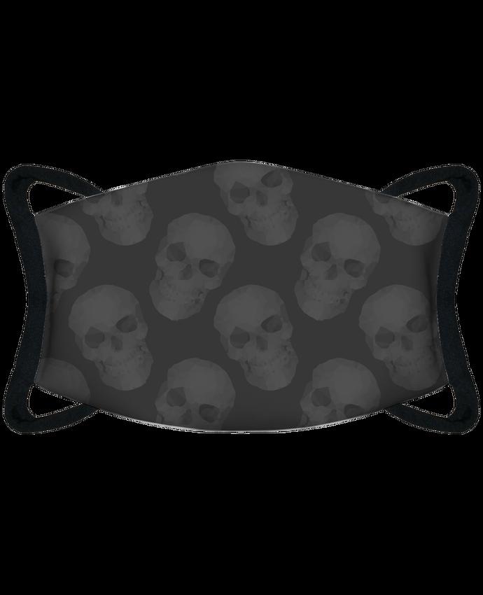 Masque de Protection Sublimable Tunetoo Masque de Protection Sublimable Tunetoo Têtes de mort - gris par justsayin