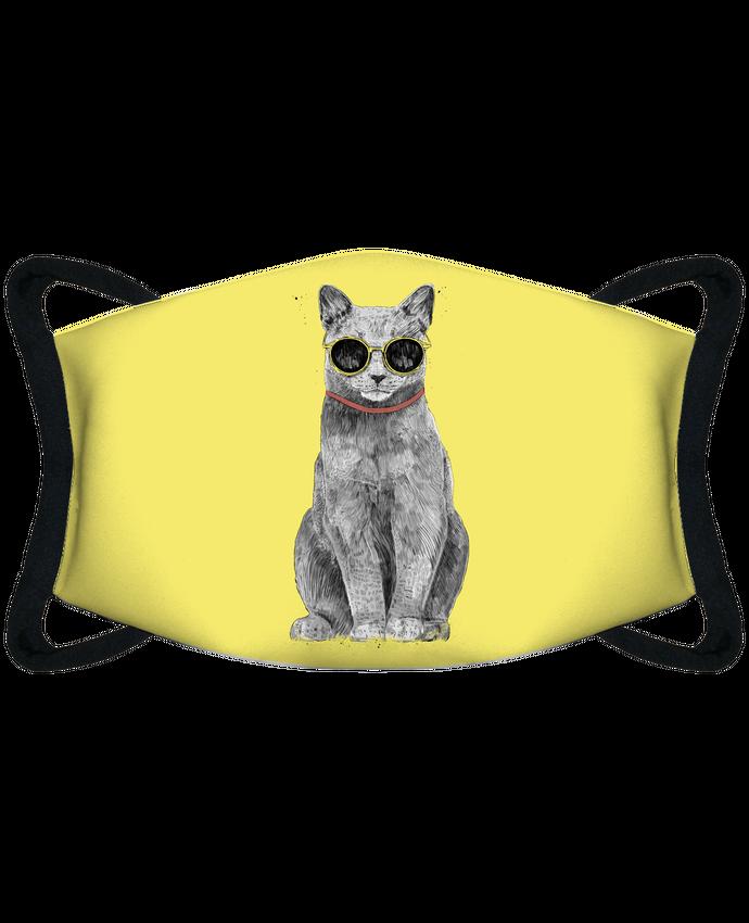 Masque de Protection Sublimable Tunetoo Summer Cat par Balàzs Solti
