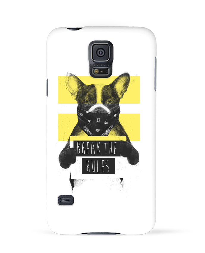 Coque 3D Samsung Galaxy S5 rebel_dog_yellow par Balàzs Solti