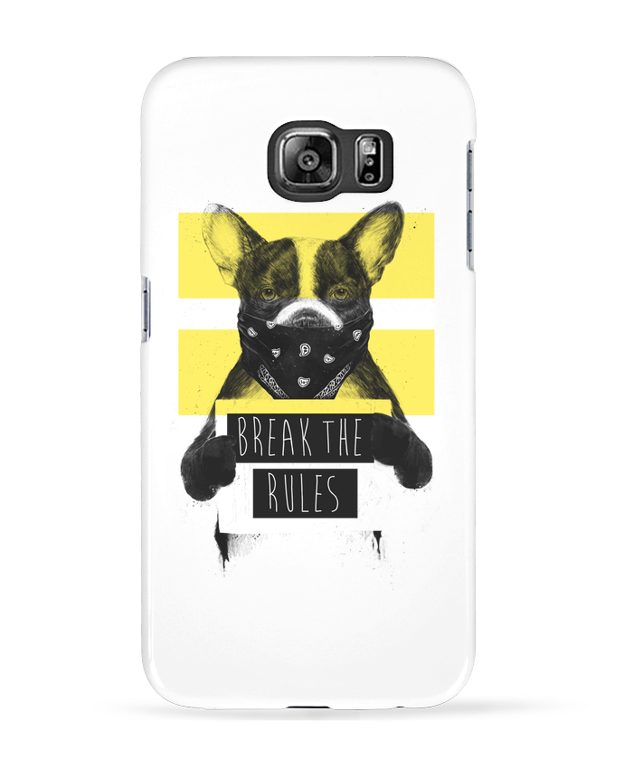 Coque 3D Samsung Galaxy S6 rebel_dog_yellow - Balàzs Solti