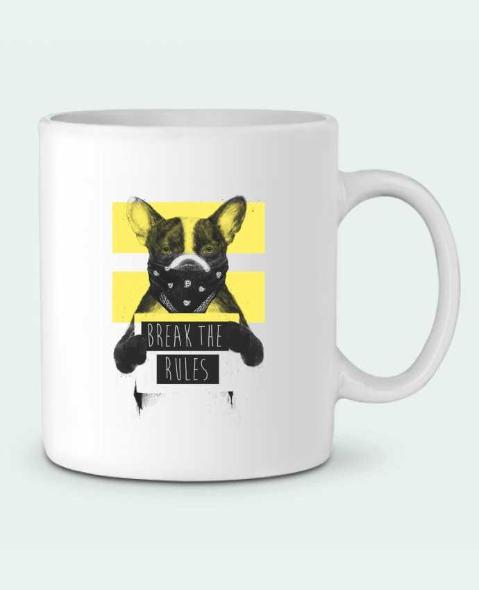 Mug en Céramique rebel_dog_yellow par Balàzs Solti