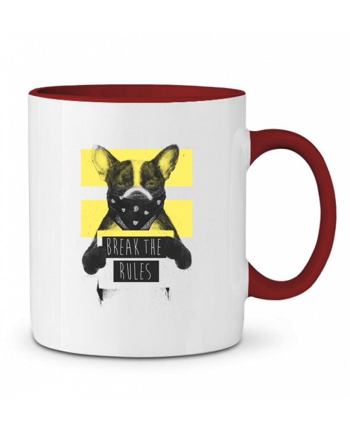 Mug en Céramique Bicolore rebel_dog_yellow Balàzs Solti