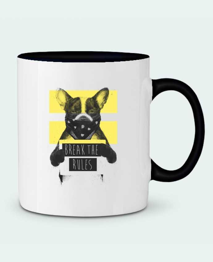 Mug en Céramique Bicolore rebel_dog_yellow Balàzs Solti