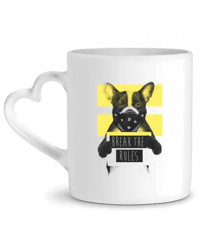 Mug Coeur rebel_dog_yellow par Balàzs Solti