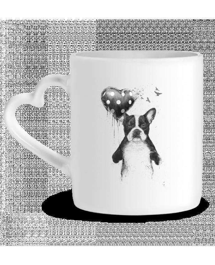 Mug Coeur my_heart_goes_boom par Balàzs Solti