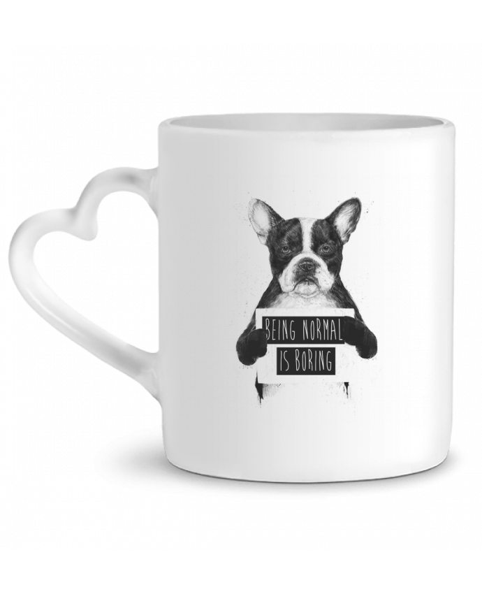 Mug Coeur Being normal is boring par Balàzs Solti