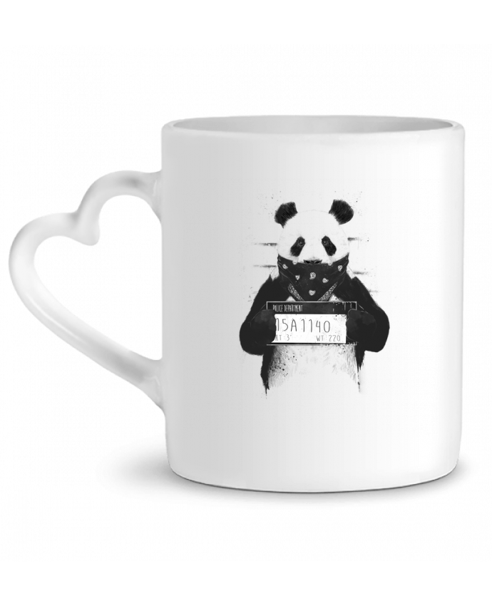 Mug Coeur Bad panda par Balàzs Solti