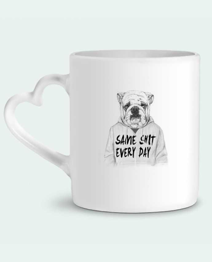 Mug Coeur Same shit every day par Balàzs Solti