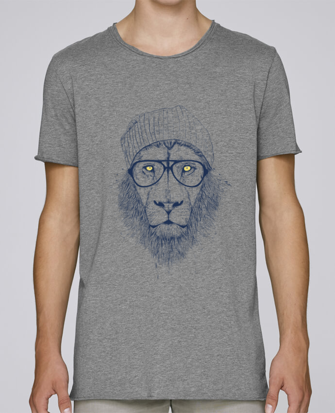 T-shirt Homme Oversized Stanley Skates Cool Lion par Balàzs Solti