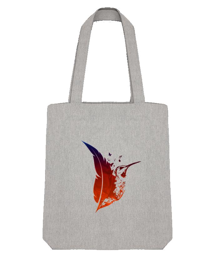Tote Bag Stanley Stella plume colibri par Studiolupi