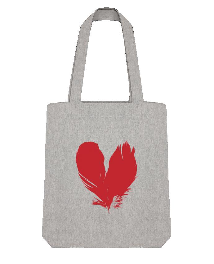 Tote Bag Stanley Stella coeur de plumes par Studiolupi