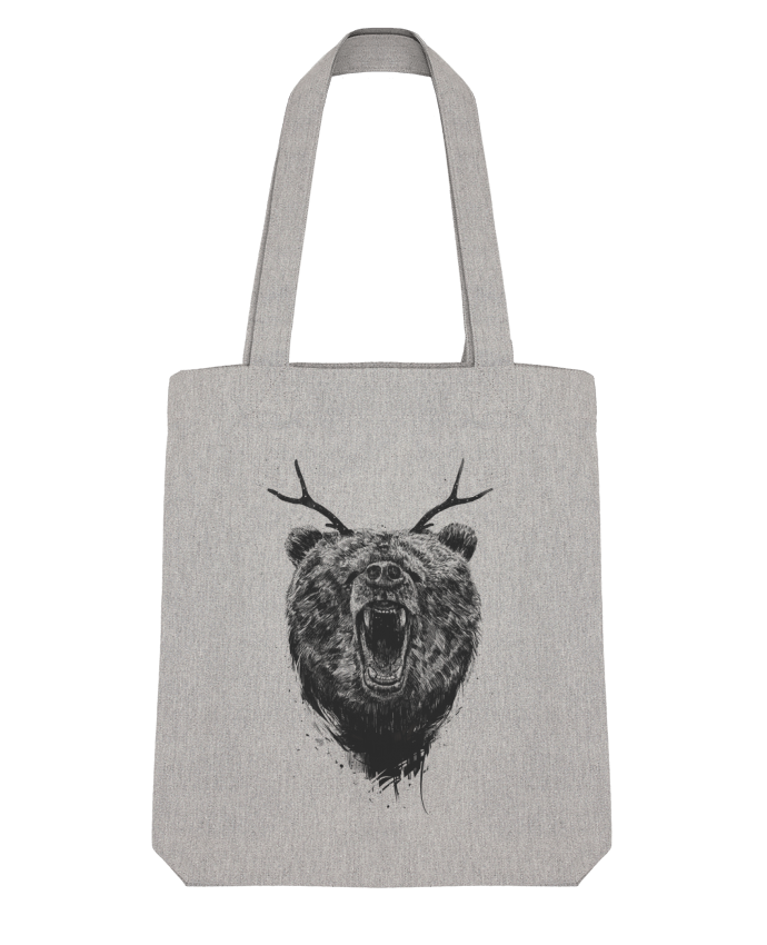 Tote Bag Stanley Stella Angry bear with antlers par Balàzs Solti