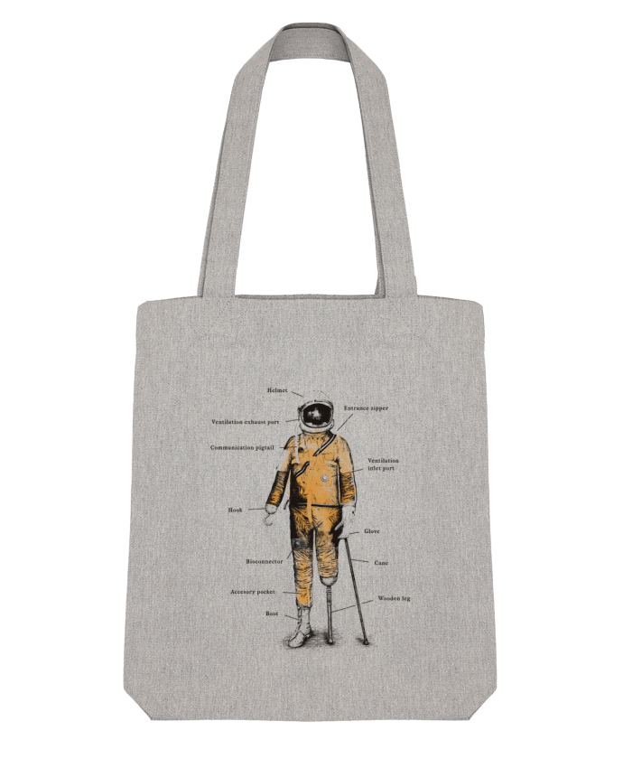 Tote Bag Stanley Stella Astropirate with text par Florent Bodart