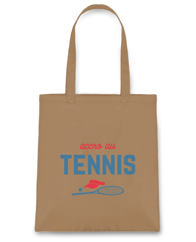 Sac en Toile Coton Accro au tennis par tunetoo