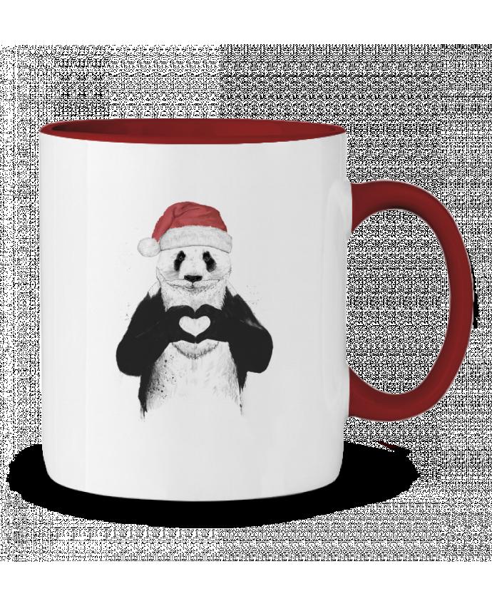 Mug en Céramique Bicolore Santa Panda Balàzs Solti