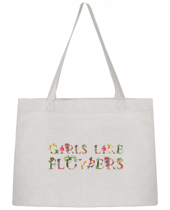 Sac Cabas Shopping Stanley Stella Girls like flowers par tunetoo