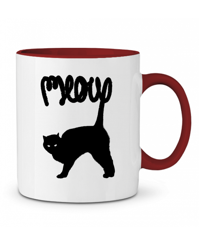 Mug en Céramique Bicolore Meow Florent Bodart