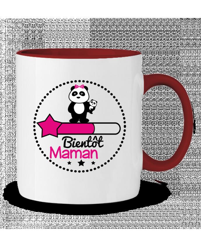 Mug en Céramique Bicolore Bientôt maman - Future mère , grossesse Benichan