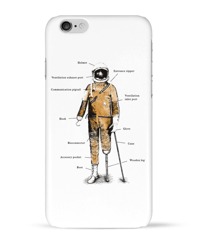 Coque 3D Iphone 6 Astropirate with text par Florent Bodart