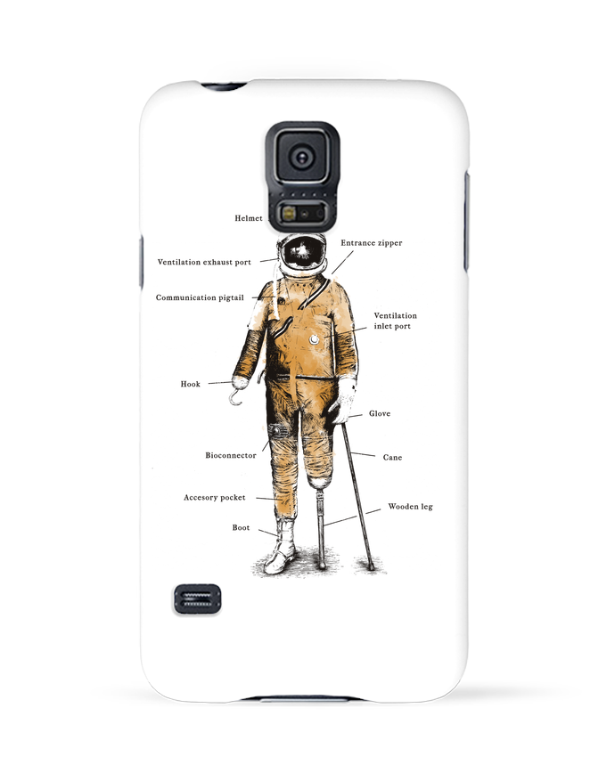 Coque 3D Samsung Galaxy S5 Astropirate with text par Florent Bodart