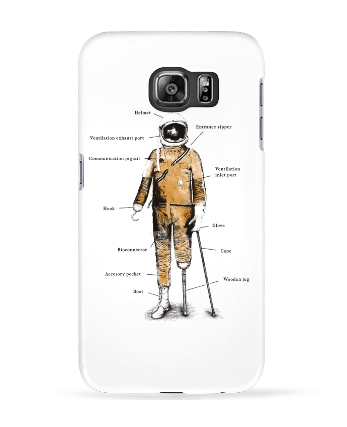 Coque 3D Samsung Galaxy S6 Astropirate with text - Florent Bodart