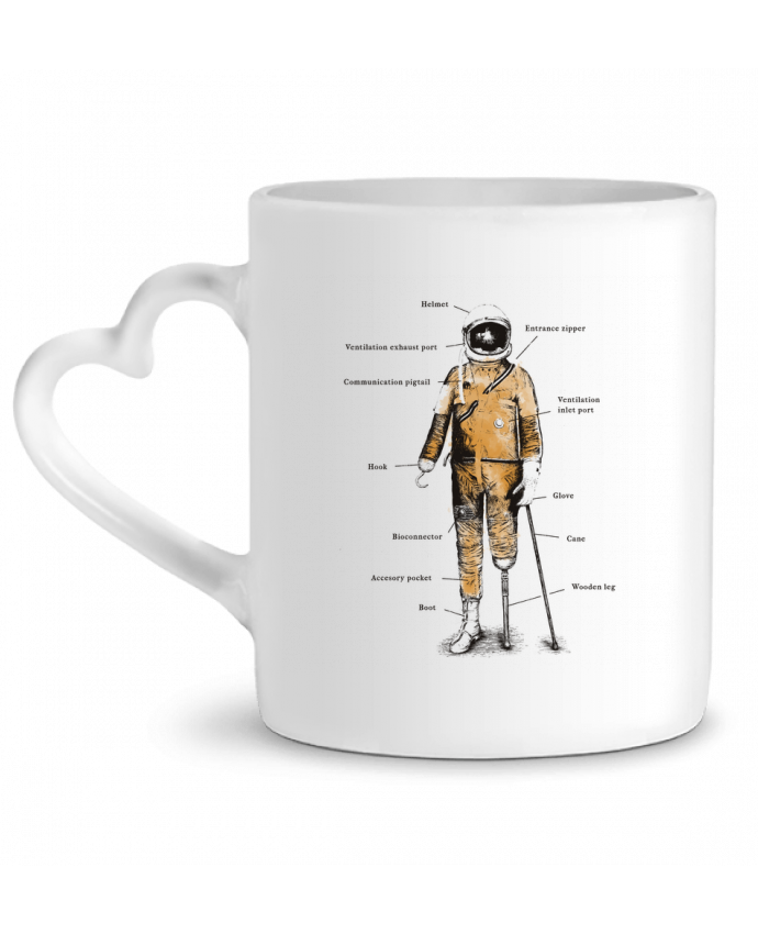 Mug Coeur Astropirate with text par Florent Bodart