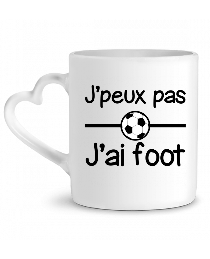 Mug Coeur J'peux pas j'ai foot , football par Benichan